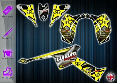CAN AM DS90 STICKERS - GRAPHICS KIT - DECALS CANAM DS 90 ATV GRAPHICS KIT